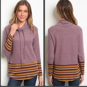 Pretty lilac striped top. So soft! Boutique